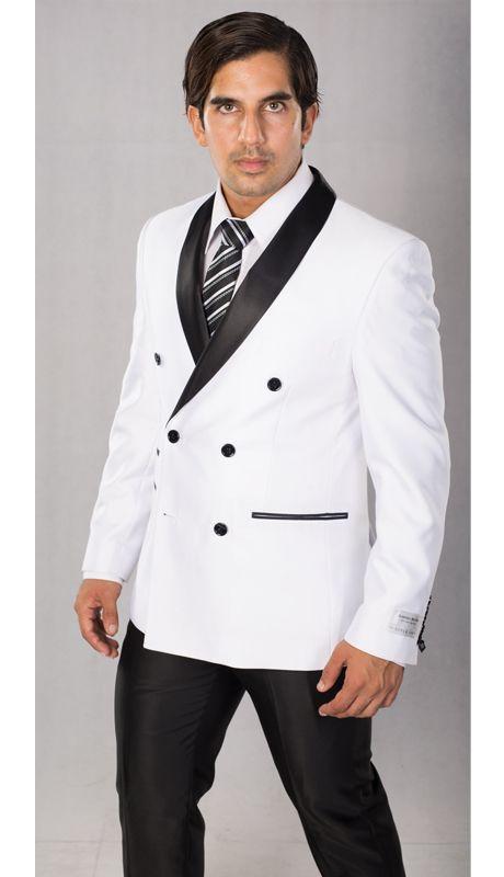 Изготовленный на заказ Красный с черные мужские костюмы 2 шт. двубортный последний пиджак брюки жениха свадебные костюмы смокинги Terno Masculino - 2