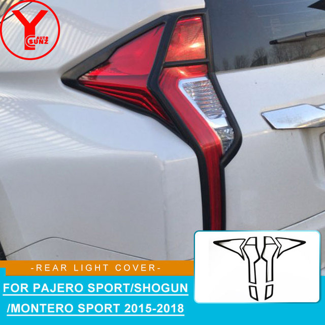 2016-2018 black tail light cover For MITSUBISHI PAJERO SPORT montero sport shogun 2016 2017 ABS car styling accessories YCSUNZ