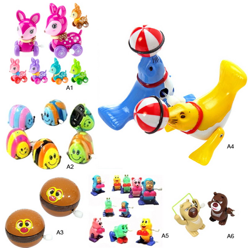 Small Toys For Boys : Hot selling newborn baby wind up plastic small animals
