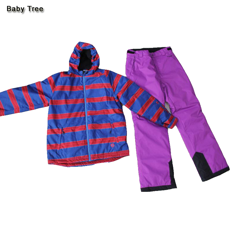 Brand Kids Ski Suits Thicken 2 pieces Girls Winter Clothing Set Cotton-padded Ski Suits + Warmly Snow Pants Children Snowsuit 2016 new brand children snow runner self balance scooter snow bicycle for kids ski kits