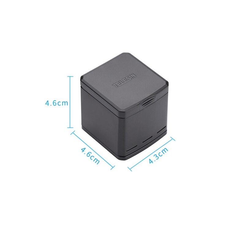 1pcs 3-way Battery Charger Charging Storage box + 2pcs 1220MAH AHDBT-501 Batteries For GoPro Hero 5 7 Black Hero 6 Camera (5)