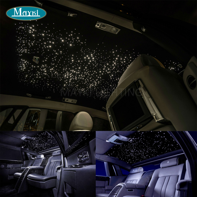 Maykit Multi Color Car Star Ceiling With 16w Rgb Led Mini Projector 288pcs 3m Fiber For