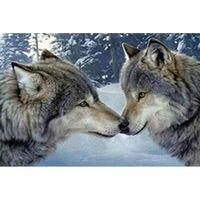 Icon Diamond Embroidery Wolf Kiss Diamond Painting 5d Diy Cross Stitch Animal Series Rhinestone Square Diamond