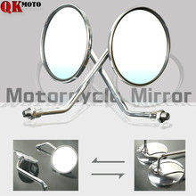 8mm 10mm Motorcycle Rear View Mirrors 7/8 Round Handlebar Bar End for Honda CB500 CB550 CB650 CB750 New Arrival