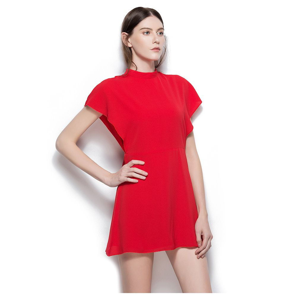 TFGS Women S Summer Chiffon Elegant Short Dress Casual Sleeveless Slim A Line Dress Bow Design