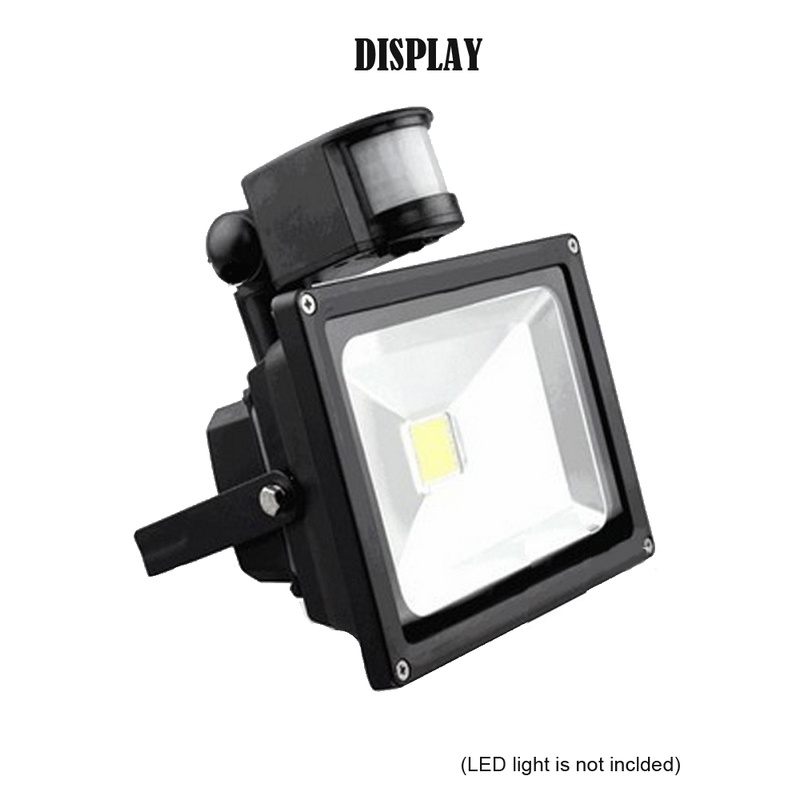 Motion Sensor Light Switch Outdoor 10m 140 Angle Automatic Infrared PIR Motion Sensor With LED Light Load Power 100W   AC 220V
