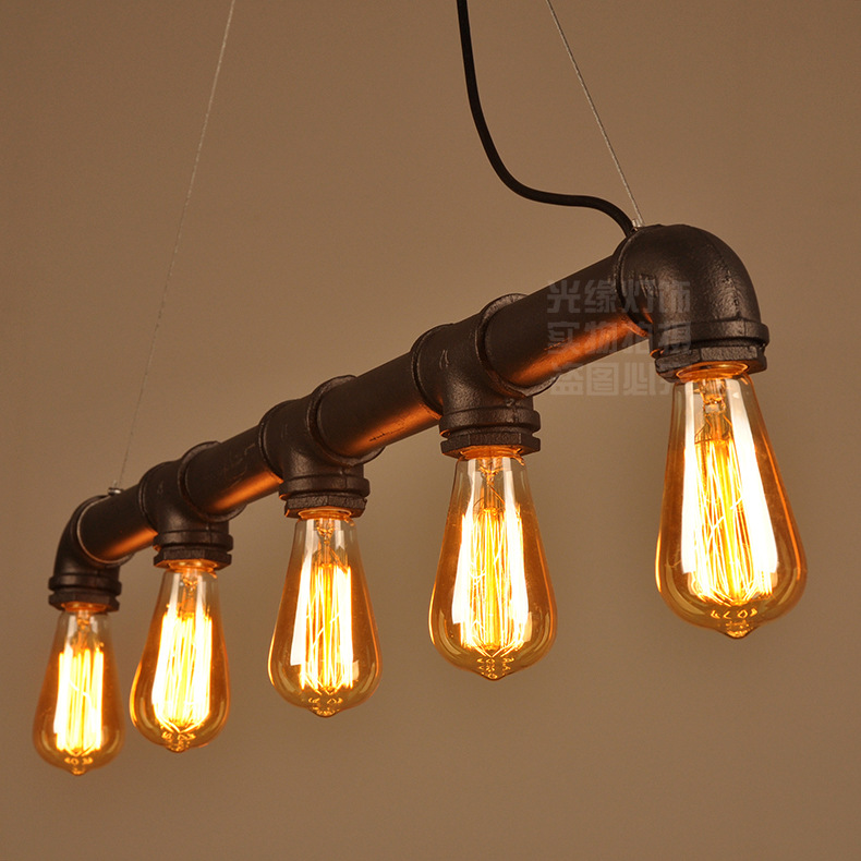 Pijp Hanglampen Industriële Verlichting 5 Armen Lichten Thuis Bar Cafe Decoratieve Verlichting Armatuur Pijp Hanglamp Zwart Rustieke