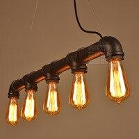 American Style Loft Retro Creative Restaurant Ceiling Lamp European Style Bar Cafe Industrial Feng Shui Tube