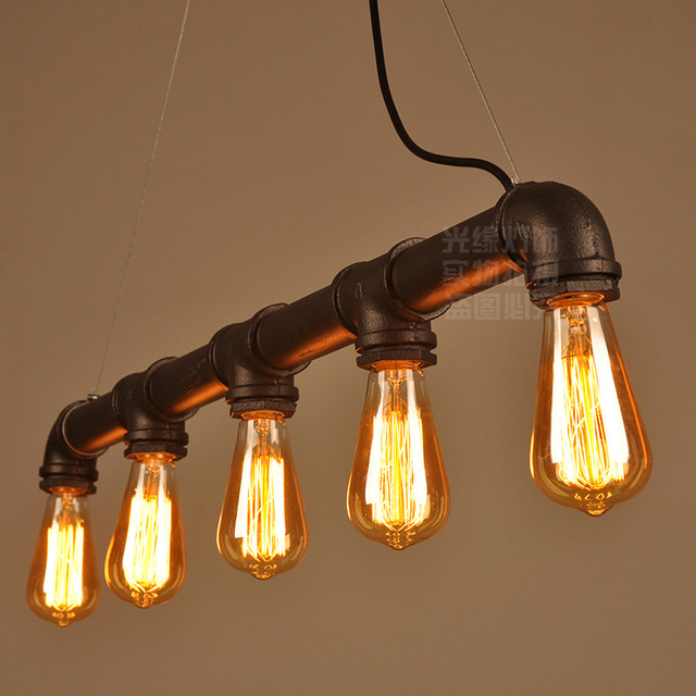 Pipe pendant lights industrial lightings 5 arms lights home bar pipe pendant lights industrial lightings 5 arms lights home bar cafe decorative lighting fixture pipe pendant aloadofball