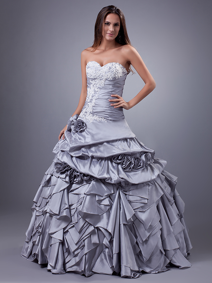 Popular 1960s wedding dress buy cheap 1960s wedding dress for Silver ball gown wedding dresses