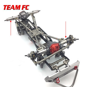 Image 5 - 1Set 1/10 Rc Car Complete Alloy CNC Metal Front And Rear Axle With Arm CNC Machined For 1:10 Rc Crawler AXIAL SCX10 RC4WD S242