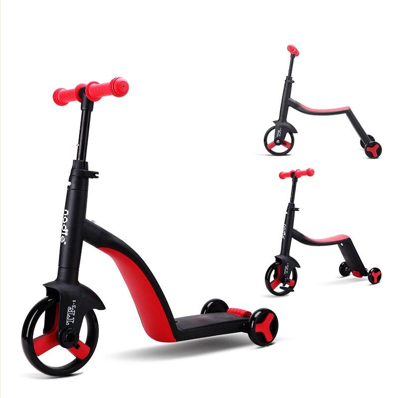 Trottinette trois-en-un pour enfants trottinette tricycle pour enfants trottinette multi-fonction pour enfants