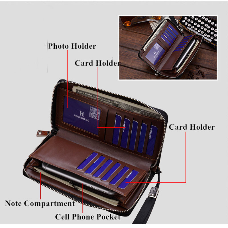 Designer Men Wallets Famous Brand kangaroo Men Long Wallet Clutch Male Wrist Strap Wallet Big Capacity Phone Bag Card Holder in Wallets from Luggage Bags