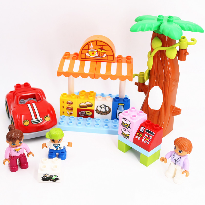 Building Block Brick DIY Farmer Market Toys For Children Accessories Compatible L Brand Duploe Parts 10867 Chirstmas Gifts