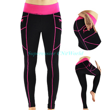 New 2016 Women Sportswear Leggings Zippers Pockets Design Leggings Comfortable Skinny Active Bottoms Pants