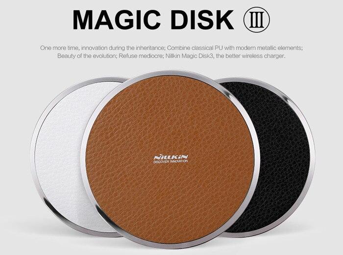 bilder für Für samsung s7 edge s7 s6 edge + anmerkung 5 schnelle nillkin magie disk iii wireless-ladegerät transmitter für lg g4 qi-fähigen artikel