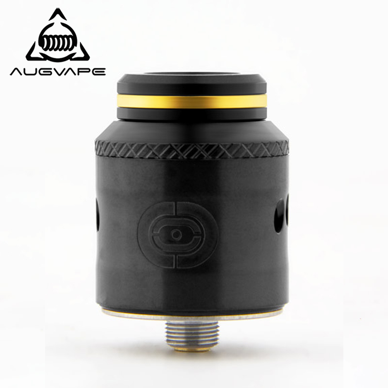 Augvape OCCULA RDA atomiseur 5 ml 24mm sécurisé via grand M3 Scews simple et double bobine débit d'air bombé bouchon supérieur Vape réservoir RDA