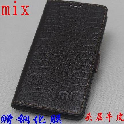 imágenes para De Calidad superior 100% de la Vaca para Xiaomi mi Mix Pro 6.4 pulgadas Cuero genuino Cubierta Delgada Del Tirón Del Teléfono Caso de La Piel para xiaomi mi mezclar