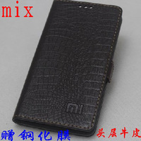 Top Quality 100 Cow Genuine Leather Cover Slim Flip Phone Skin Case For Xiaomi Mi Mix