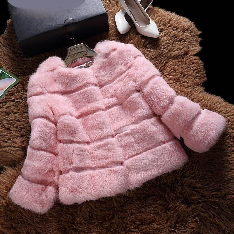Real rabbit fur coat outerwear ladies wave cut O neck short design fur jackets women's coats 2017 autumn and winter