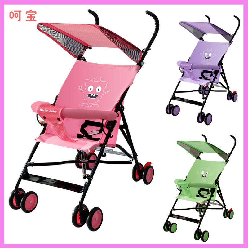 Small Baby Stroller Super Light Portable Travel Umbrella Wagons Cartoon Baby Trolley Buggy Folding Four Wheels Baby Carriage exquisite cartoon cat pattern folding umbrella