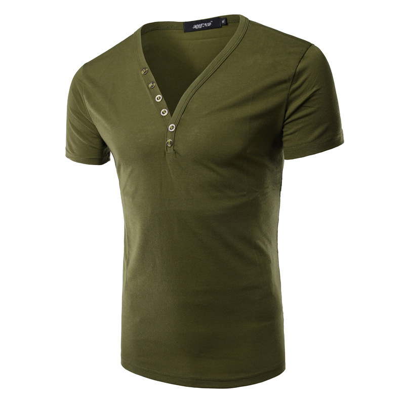 2016 summer new t shirts mens brand design v neck collar for V neck t shirts with designs