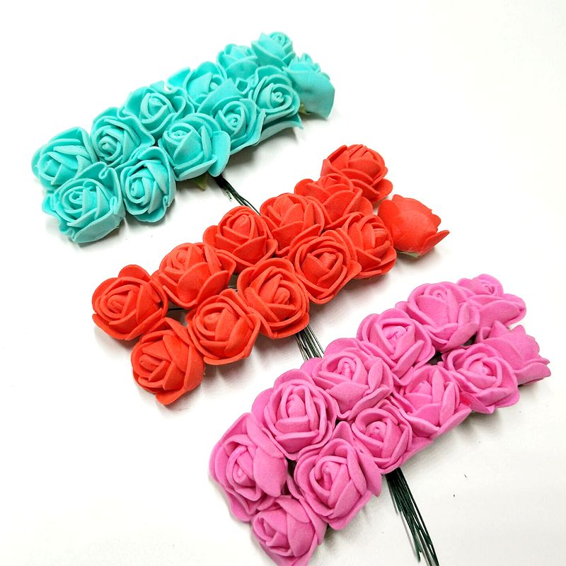 Image 5 - 144pcs/lot  2cm Mini Foam Rose Artificial Flower Bouquet  Wedding Festival Decoration s DIY Fake   F003-in Artificial & Dried Flowers from Home & Garden