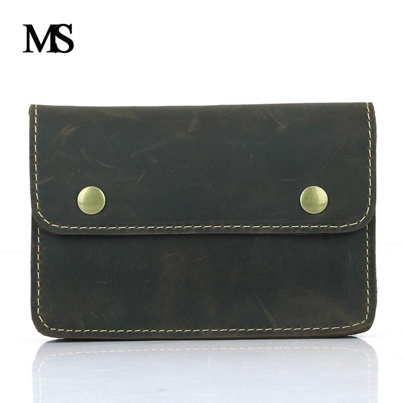 MS 2018 विंटेज असली लेदर बैग कमर पैक पुरुषों के लिए कमरबंद बैग पुरुषों के लिए आकस्मिक फैशन ब्रांड बिजनेस बैग TW1658