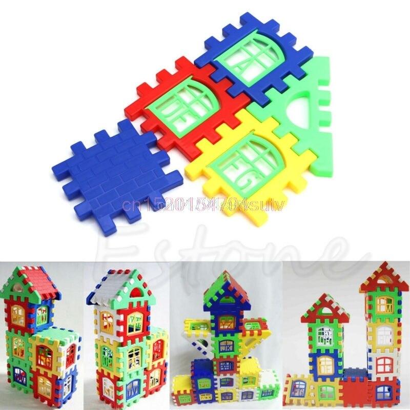 Bayi Kanak-kanak Kanak-kanak Blok Bangunan Rumah Pendidikan - Mainan pembinaan - Foto 3