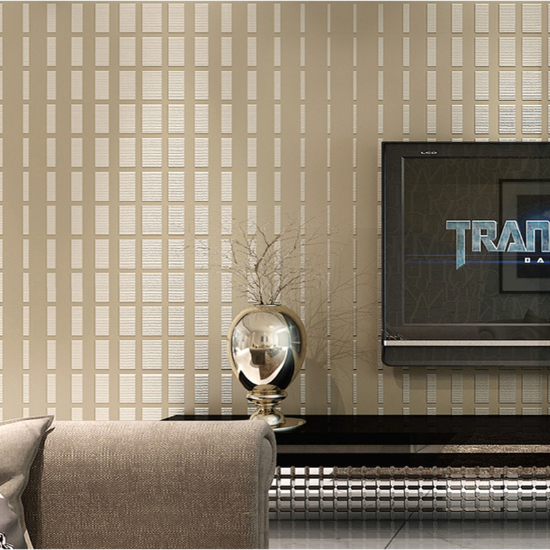 Modern Simple 3D Mosaic Non-Woven Wallpaper Living Room Bedroom TV Sofa Backdrop Wall 3D Stereo Stripe Wallpaper Papel De Parede