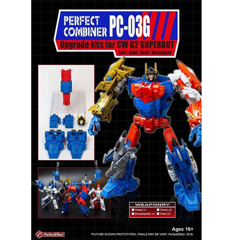 (IN STOCK) Toy PerfectEffect PE PC-03G Superion Update Accessory Kit For CW G2 Superbot