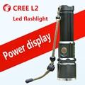 Powerful led flashlight CREE L2 Self defense High light outdoor camping Cycling Night walk Hunting Fishing  linternas led