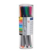 ドイツstaedtler 334 # pr12 12色繊維ペン針フックラインのペン描画ペンに書く特別オフィス学校用品