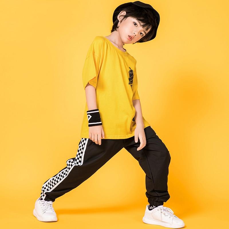 Kids Dance Costumes Street Dance Suit For Hip Hop Breaking Dance Drumming Performance Children Hip Hop Dance Clothes  BL1928