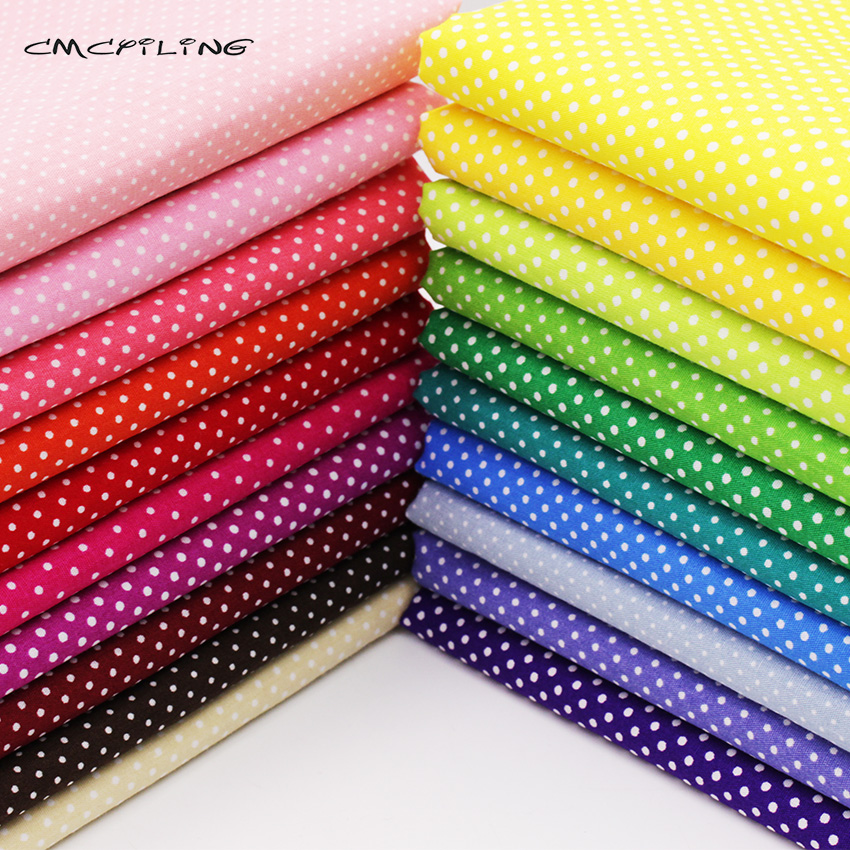 20 color 50*50 Multicolor Polka Dot cotton fabric tilda fabrics patchwork cotton tissue  ...