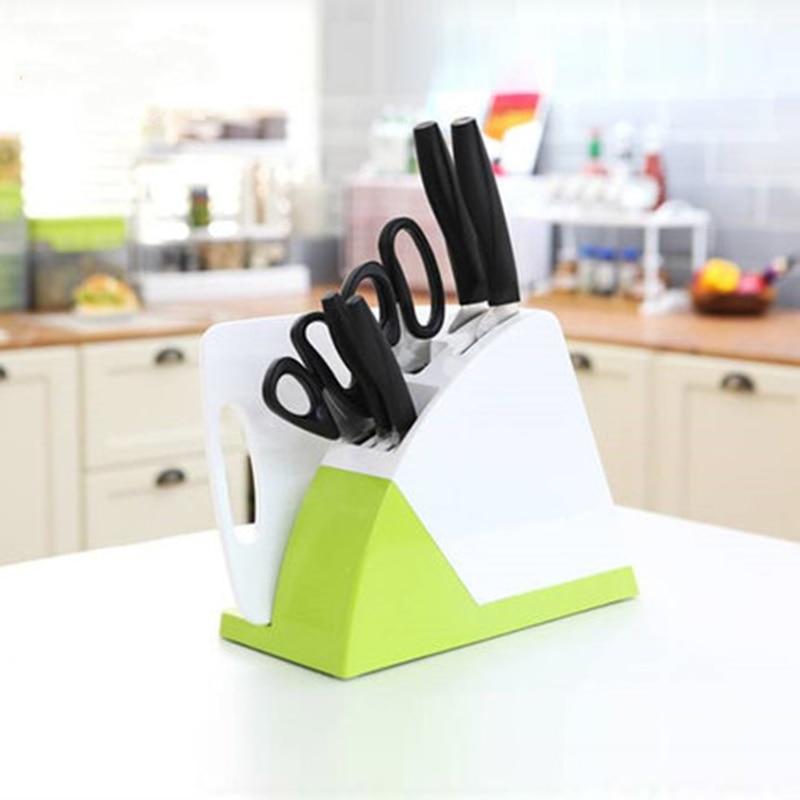Practical Cutting Board Rack Stands For Knives Kitchen Scissors Knife Block Holder Storage Shelf Saving Space