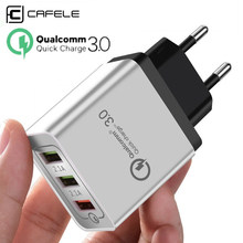 CAFELE Universal 18W EU Plug USB Quick charge 3.0 5V 3A Mobile Phone Fast charger charging for iPhone Samsung Huawei xiaomi(China)