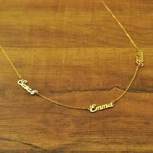 Пользовательские Три имена Семья Цепочки и ожерелья Детские имена Цепочки и Ожерелья Цепочка с подвеской для лучших друзей подарок для мамы подарок на день матери