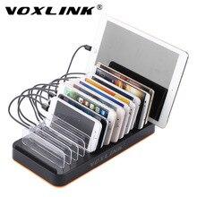 VOXLINK Smart 15-Port USB Charging Station Dock 80W 16A Universal USB Fast Charger Cable Organizer For Smart Phones & Tablets