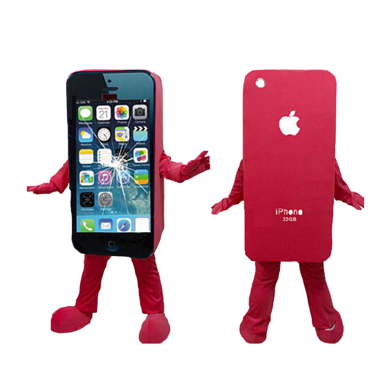 new fashion High Quality adult size damaged Broken Iphone 4 Mascot Costume Iphone Mascot Costume Cellphone