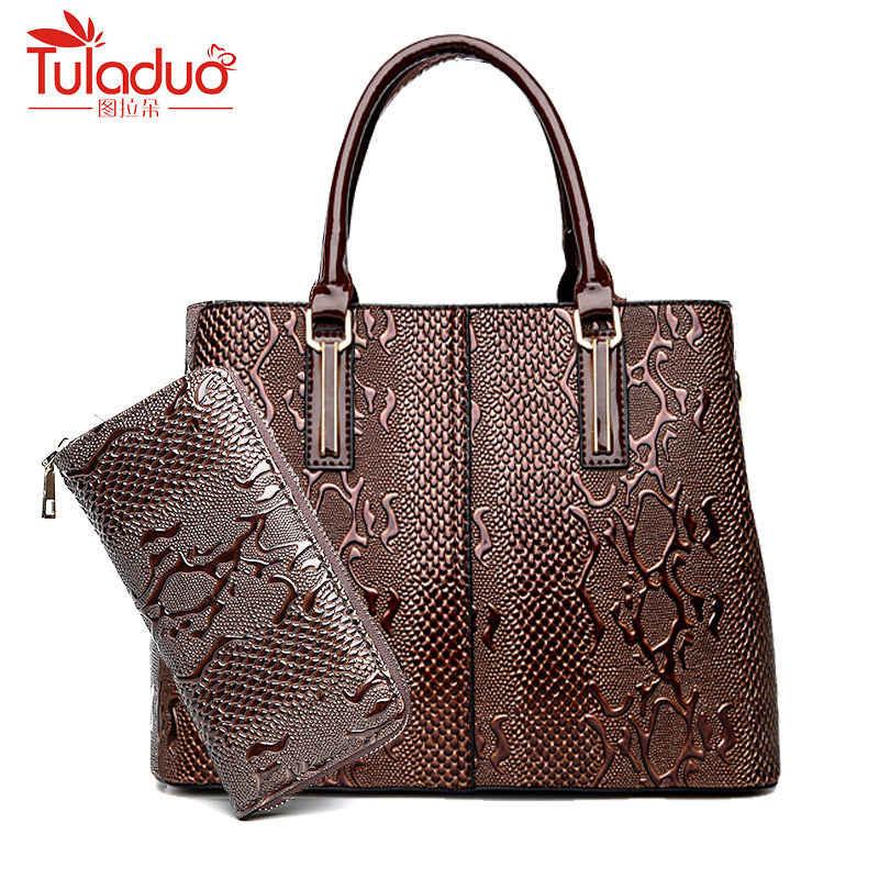 New Fashion PU Leather Women Bag Ladies Luxury Snake Shoulder Bags Designer  Handbags High Quality 2018 920a82134f403