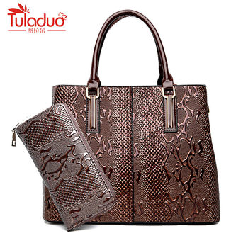 New Fashion PU Leather Women Bag Ladies Luxury Snake Shoulder Bags Designer Handbags High Quality 2018 Spring Ladies Tote Bag Сумка