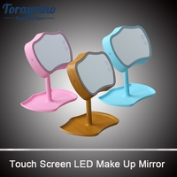 Bathroom Vanity Mirror LED Light Touch Screen Control Can Be Rotated Make up Mirror Bathroom Mirror