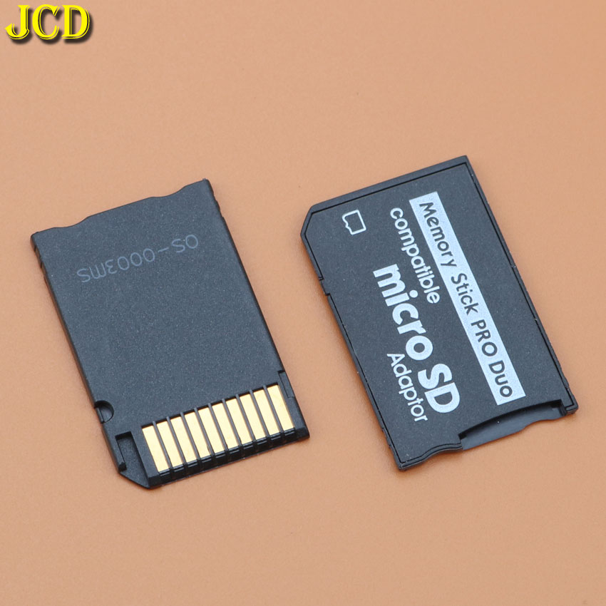 JCD 1Pcs Memory Card Adapter Micro SD to Memory Stick Adapter For PSP Sopport Class10 Micro SD 2GB 4GB 8GB 16GB 32GB image