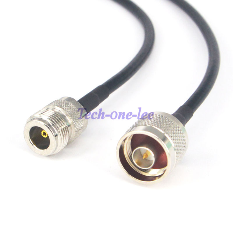 N type male plug to N female jack pigtail cable RG58 50cm for wifi router NEW G