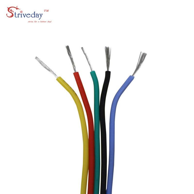 30/28/26/24/22/20/18 AWG гибкий силиконовый провод кабель линия 5 цветов смешанный пакет Электрический провод медная линия DIY