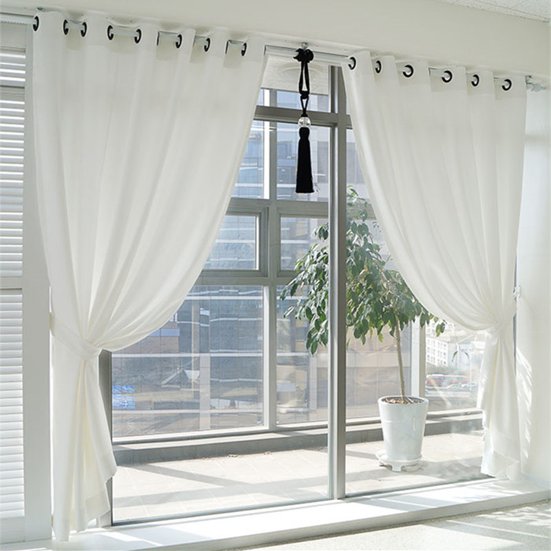 blackout curtains elegant princess Polyester thicken custom curtains cloth curtain white wedding home textile living room