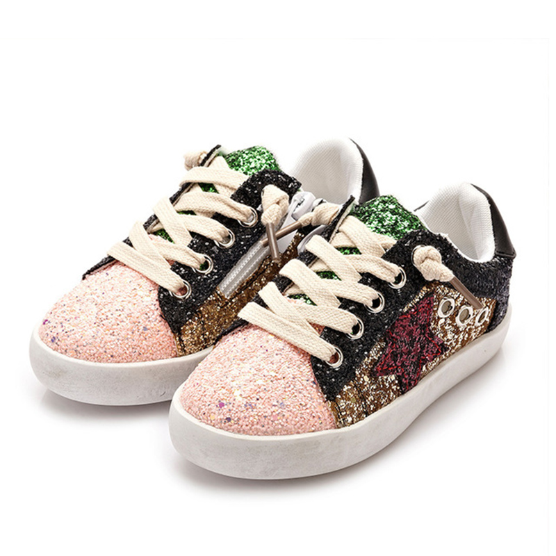 Bling Sequin Kids Star Shoes Toddler Trainer Children Casual Shoes Boys Girls Sneakers Glitter Shoes