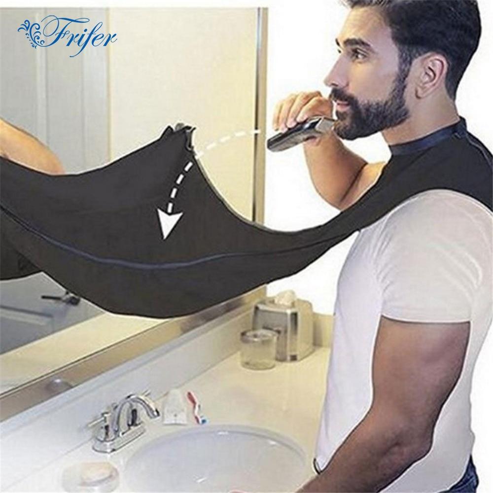 טיפול זקן לגלח סינר קייפ בד ביב שיער פנים זמירה מטפחת התפסן כלי ניקוי גברים אופנה Grooming התפסן