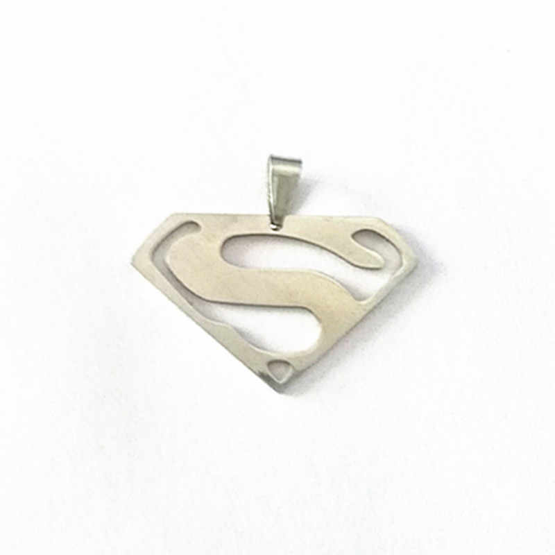 Nowy modny naszyjnik ze stali nierdzewnej Superman naszyjnik dla kobiet mężczyzn biżuteria najlepsi przyjaciele Vintage Punk naszyjnik mężczyzna